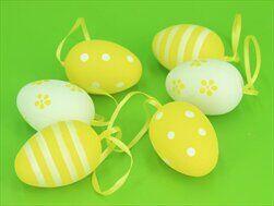 Vajíčka pvc 6ks/6cm žlutá - velkoobchod, dovoz květin, řezané květiny Brno