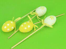 Vajíčka pvc zápich 4ks/4cm žlutá - velkoobchod, dovoz květin, řezané květiny Brno