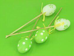 Vajíčka pvc zápich 4ks/4cm zelená - velkoobchod, dovoz květin, řezané květiny Brno