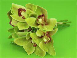 Cymbidium umělé 7ks/25cm zelené - velkoobchod, dovoz květin, řezané květiny Brno