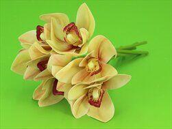 Cymbidium umělé 7ks/25cm žlutá - velkoobchod, dovoz květin, řezané květiny Brno