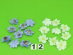 Květiny přízdoba textil 9ks/pr.4,5cm - velkoobchod, dovoz květin, řezané květiny Brno