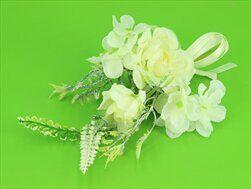 Květinová přízdoba umělá 26cm bílá - velkoobchod, dovoz květin, řezané květiny Brno