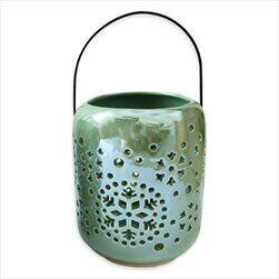 Lucerna porcelán 14cm šedá perleť - velkoobchod, dovoz květin, řezané květiny Brno