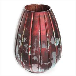 Váza sklo pr.22 v.30cm bordó - velkoobchod, dovoz květin, řezané květiny Brno