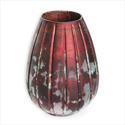 Váza sklo pr.18 v.25cm bordó - velkoobchod, dovoz květin, řezané květiny Brno