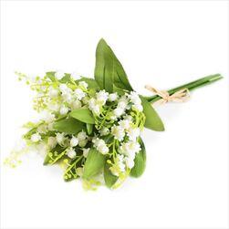 Konvalinky kytice umělá 32cm - velkoobchod, dovoz květin, řezané květiny Brno