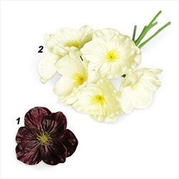 Čemeřice kytice uměla 6ks/30cm mix - velkoobchod, dovoz květin, řezané květiny Brno