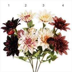Jiřina kytice umělá 65cm mix - velkoobchod, dovoz květin, řezané květiny Brno