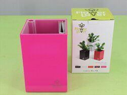 Plast obal Cubi 9x9x13,5 růžový - velkoobchod, dovoz květin, řezané květiny Brno