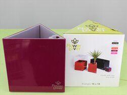 Plast obal Triangel 14x14x14 fialový - velkoobchod, dovoz květin, řezané květiny Brno