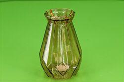 Sklo váza Rocco Diamond pr.12/18cm hnědá - velkoobchod, dovoz květin, řezané květiny Brno