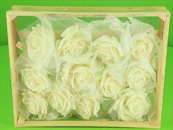 Vosková Růže Bílá 10cm - velkoobchod, dovoz květin, řezané květiny Brno