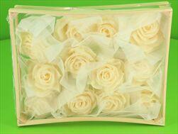 Vosková Růže Krémová 10cm - velkoobchod, dovoz květin, řezané květiny Brno