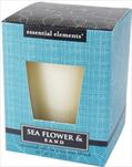 Svíčka esenciální sojový vosk - sea flower - velkoobchod, dovoz květin, řezané květiny Brno