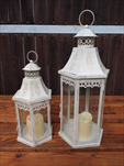 Lampa kov/sklo 2ks - velkoobchod, dovoz květin, řezané květiny Brno