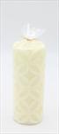 Svíčka válec střední Maroko béžová - velkoobchod, dovoz květin, řezané květiny Brno