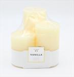 Svíčka 3 pack Vanilla - velkoobchod, dovoz květin, řezané květiny Brno