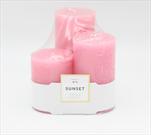 Svíčka 3 pack Sunset - velkoobchod, dovoz květin, řezané květiny Brno
