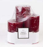 Svíčka 3 pack Sweet cherry - velkoobchod, dovoz květin, řezané květiny Brno