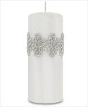Sv svíčka válec velká bílá Venezia - velkoobchod, dovoz květin, řezané květiny Brno