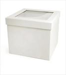 Flower box Square 18x18x13/21x21x15cm bílý - velkoobchod, dovoz květin, řezané květiny Brno