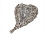 SU Proutěné Srdce Whitewashed 31cm - velkoobchod, dovoz květin, řezané květiny Brno