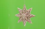 Hvězda plast 3D závěs 10x3,3x10cm růžová - velkoobchod, dovoz květin, řezané květiny Brno
