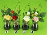 Uk Růže závěs sklo 19cm - velkoobchod, dovoz květin, řezané květiny Brno