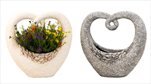 KE Obal MG srdce šedé+bílá - velkoobchod, dovoz květin, řezané květiny Brno