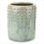 Modrozelený květináč z keramiky - velkoobchod, dovoz květin, řezané květiny Brno