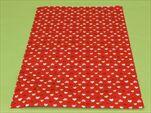 Sáček celofán 25x40cm tisk srdíčka červený - velkoobchod, dovoz květin, řezané květiny Brno