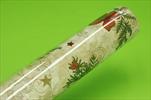 Role papír+vlizelín 75cm/20m voděodolný Christmas - velkoobchod, dovoz květin, řezané květiny Brno