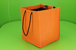 Taška textil 25x25x30cm oranžová - velkoobchod, dovoz květin, řezané květiny Brno