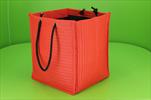 Taška textil 25x25x30cm červená - velkoobchod, dovoz květin, řezané květiny Brno
