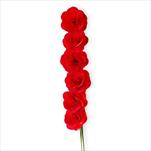 Deco růže dřevo 6ks/6cm červená - velkoobchod, dovoz květin, řezané květiny Brno