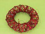 Kruh proutí-réva 20cm červená - velkoobchod, dovoz květin, řezané květiny Brno
