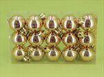 Koule vánoční plast 15ks/3cm zlatá - velkoobchod, dovoz květin, řezané květiny Brno