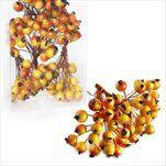 Jeřabina zápich pr.0,8cm/144ks žlutooranž - velkoobchod, dovoz květin, řezané květiny Brno