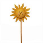 Sluníčko zápich dřevo 7x29cm žlutá - velkoobchod, dovoz květin, řezané květiny Brno