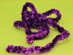 Řetěz vánoce 2,5cm/2m tm.fialová - velkoobchod, dovoz květin, řezané květiny Brno