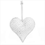 Srdce závěs kov 15cm bílá - velkoobchod, dovoz květin, řezané květiny Brno