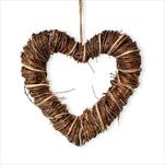 Srdce proutí závěs 25cm natural - velkoobchod, dovoz květin, řezané květiny Brno