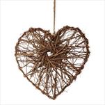 Srdce proutí 28cm natural - velkoobchod, dovoz květin, řezané květiny Brno
