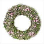 Věnec jaro proutí 25cm růžová - velkoobchod, dovoz květin, řezané květiny Brno