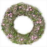 Věnec jaro proutí 35cm růžová - velkoobchod, dovoz květin, řezané květiny Brno