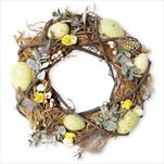 Věnec velikonoční proutí 24cm mix - velkoobchod, dovoz květin, řezané květiny Brno