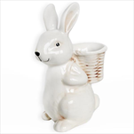 Zajíc s nůši porcelán 26,6cm mix - velkoobchod, dovoz květin, řezané květiny Brno