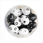 Vajíčka závěsná pvc 3ks/18cm bílá/černá - velkoobchod, dovoz květin, řezané květiny Brno