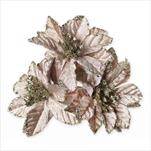 Poensetie zápich textil 3ks/6cm latté - velkoobchod, dovoz květin, řezané květiny Brno